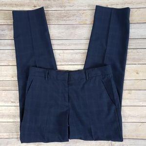 GAP Pants - Gap True Straight Blue Tartan Plaid Stretch Pants